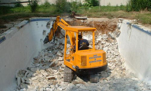 Concrete and pool demolition